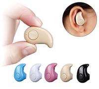ingrosso auricolare dell'orecchio del bluetooth piccolo-S530 super mini auricolare stereo senza fili bluetooth Cuffie auricolari più piccoli In ear V4.0 Stealth auricolari Auricolari per telefoni cellulari