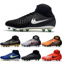 Wholesale Good Sale Boots - 2017 New Soccer Shoes Magista Obra II FG Men ACC Football Shoes Good Quality Cleats Original Discount Hot Sale Sports Boots 6.5-11