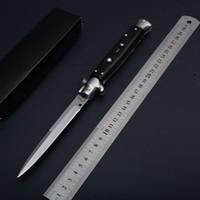 Wholesale Bone Folding Knife - Wholesale Italy AKC 11 Inches Bone Handle 9Cr18Mov Blade The Godfather single action folding knife Tracital knives