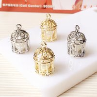 Wholesale Cheap Locket Charms - 2017 Fashion pearl cage pendants 12*20MM pearl birdcage charm For women DIY Jewelry accessories cheap Hot sale