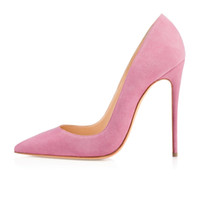 Pompes Roses Classiques Pas Cher-Zandina dames à la main de la mode ASO-kate 120mm pointu Toe Classic Party Slim talon pompes Stiletto Shoes Pink