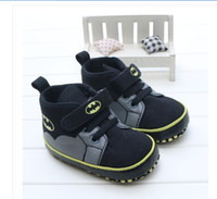 Wholesale Toddler Boy Winter Cartoon Boot - Wholesale- TongYouYuan Classic Canvas Infant Toddler Baby Boy Girls Kids Prewalkers Cartoon Bat man Sports Sneakers Boots Ankle Shoes 0-1T