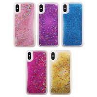 Clear sparkle phone cases - Bling Glitter Liquid Soft TPU Case For Iphone Iphone8 G th Silicone Diamond Sparkle Quicksand Star Clear Cell Phone Fashion Skin Cover
