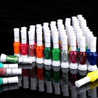 Wholesale Glitter Nail Art Pens - Wholesale- wholesale latest edition nail polish 72 Colors 2-Way False Nail Art Brush Pen Glitter Varnish Polish Set 72pcs set free shippi