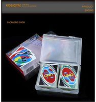 Wholesale Trade Stockings - Stock hight quality poker card Crystal PVC waterproof standard edition family fun entertainment board game Kids funny Puzzle game