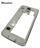 Wholesale Housing Chassis - 10pcs For Samsung Galaxy S5 G900H G900F Middle Frame Housing Replacement Back Chassis Frame Bezel for Galaxy G900F G900H