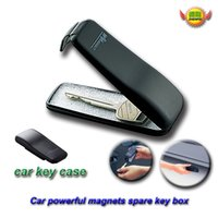 Wholesale Car Magnets Free Shipping - free shipping Car Accessories Powerful magnet clamshell automobile spare emergency key boxes W288