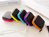 Wholesale business card usb - Mini Zipper Hard Headphone Case,PU Leather Earphone Bag,Protective Usb Cable Organizer,Portable Earbuds Pouch box