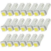 Wholesale Speedo Wholesaler - 1000pcs T5 LED wedge t5 led Car light 5050 1 SMD led B8.5 Speedo Dash Side Light Bulb White Blue Red