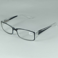 Wholesale Good Strength - Good Quality Reading Glasses Plastic Frame Myopia From -1.00 to -3.00 Hyperopia From +1.00 to +4.00 Transparent Black Spring Hinge