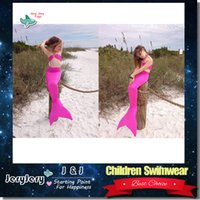 Wholesale Children Girls Green Bikini - Children Lovely Cute Mermaid Suwimsuit Girl Swimwear Costume Summer Beach Wear Two-Piece Wear Baby Kids Child Bikini
