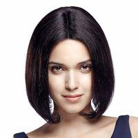 Wholesale Brazil Virgin - Human Hair Full Lace Wig Bob Is Short in FULL LACE WIGS Wig Bob Wig 100% Cordon Of Human Hair In Front Of Brazil Virgin Hair 100% Jews Wigs