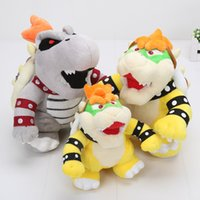 Wholesale dry bones plush doll - 17-24cm Super mario Bros Koopa Plush Toys Dolls Morton Koopa Bolster Dry Bones Bowser Super Mario toy