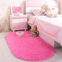 Wholesale Oval Carpets - free shippingwholesaleSuper Slip-Resistant Pad Soft Room Oval Carpet Floor Carpet Warm Mat Washable Bedroom Living Room  Teapoy Carpet
