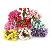 Wholesale Diy Artificial Mini Foam Flower - 100PCS New DIY Scrapbooking Foam Artificial Mini Stamen Bud Bouquet Leaves Flower For Home Wedding Party Decoration Fake Flower