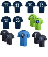 Wholesale T Shirts Number - 2017 NEW SEASON USA basketball Minnesota 32 TOWNS 23 butler 22 WIGGINS 1 JONES Timberwolves NAME AND Number T-Shirt