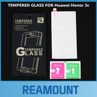 huawei 3c ekran koruyucusu onuruna toptan satış-Huawei Onur 3C için 100 adet Temperli Cam Yüksek Kalite Patlamaya dayanıklıScratch geçirmez Ekran Koruyucu Cam filmi için Huawei Onur 3C