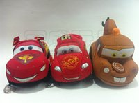 Wholesale Toy Cars Videos - EMS Car plush toys 95 Lightning McQueen car Stuffed Animals soft dolls PP cotton 16-18cm A127
