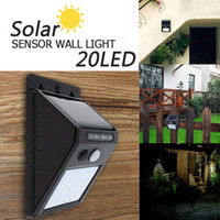 Wholesale Garden Path Solar Light - 20 LED Solar Power PIR Motion Sensor Wall Light Outdoor Waterproof Energy Saving Street Yard Path Home Garden Security Lamp LEG_20G