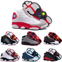 Wholesale Men S Air Shoes Basketball - [With Box]Cheap Air Retro XIII 13 CP3 Basketball Shoes Retro + 13s Black Orion Blue Sunstone Athletics Sneaker Men Sports shoe 13's Trainers
