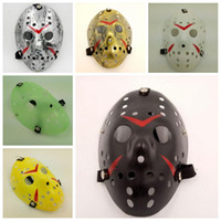 Wholesale Hockey Masks - Halloween Cosplay Costume Porous Mask Jason Voorhees Friday The 13th Horror Movie Hockey Full Face Mask Party Mask CCA7656 500pcs
