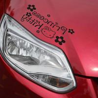 Wholesale Princess Auto - wholesale car eyebrow Funny Car Sticker 3D Reflective sticker cartoon HELLO KITTY princess auto lamp post