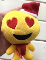 Wholesale Wedding Dolls Animals - Christmas Decorations emoji Toy cute plush Doll Christmas Gift 9*12cm emoji Christmas tree Ornaments wedding gift