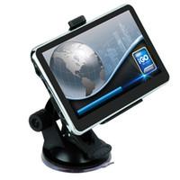 gps igo espanha venda por atacado-5 polegada / 4.3 polegada Navegação GPS Do Carro Multilingual Truck Navigator 800 MHZ 8 GB IGO Primo 3D Mapas Bluetooth FM AVIN Funções