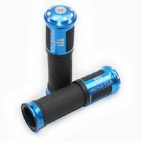 Wholesale motorcycle hand grips rubber resale online - Universal Rubber Porous Carved Motorcycle Handlebar Grips Motorbike Handle Hand Bar Ends for Modifying Optional Colors