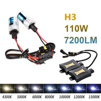 2pcs 55W Xenon HID Set Sigle Beam Headlight Bulb H3 4300K ​​6000K 8000K DC330 Car Light Source
