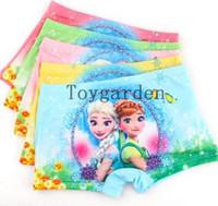 Wholesale Wholesale Girl Boxer - Wholesale the latest 5pcs princess cartoon Children girl lovely cotton underwear Boxer shorts P-41
