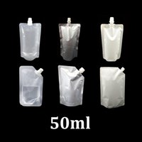 Wholesale Spout Pouch Wholesale - 50ml clear   white plastic disposable stand up liquid trial fruit juice water baby food spout pouch doypack food packaging pouch bag