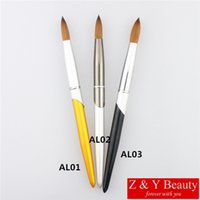 Wholesale Factory Direct SIZE Kolinsky Nail Brush Metal Handle Nail Brush Acrylic