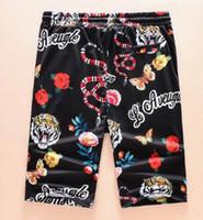 Wholesale Relaxing Butterflies - Offer!! Men Beach Shorts Quick Drying Tiger Snake Butterfly Flower Print Short Pants Casual Clothing Outwear Men Beach Trunks 3XL