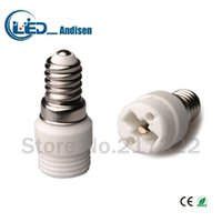Wholesale E14 G9 Adapter - E14 TO G9 adapter Conversion socket High quality material fireproof material E12 socket adapter Lamp holder