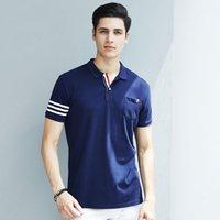 Wholesale Cultural Shirts - Wholesale men's summer polo shirt lapel color T shirt men's short sleeved high-end cultural shirts fashion shirts factory production