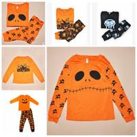 Wholesale Children Pumpkin Costume - Halloween Costume Baby Girls Boys Clothing Sets Toddler Pajamas Suit Pumpkin Children Sleepwear Furniture Sets Clothing Sets TOP1982ZZ