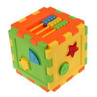 blöcke plastik pädagogisches spielzeug großhandel-Baby Bunte Block Spielzeug Bricks ABS Kunststoff Passende Blöcke Baby Kinder Intelligenz Pädagogisches Sortierbox Spielzeug