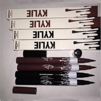 Wholesale Eyes Pencils - Kylie waterproof Liquid Eyeliner Eye Liner Pencil Makeup Cosmetic Tools Black Brown Eye liner Pen DHL free shipping