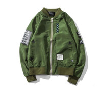 Wholesale Military Style Long Top - Top Ma1 Bomber yeeus Jacket 2017 Spring Kanye West Tour Pilot Anarchy Outerwear jacket military style