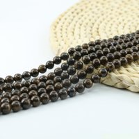 Wholesale Genuine Gems Beads - Genuine Bronzite Beads Gems Beading Supplies Brown Gemstone 4 6 8 10mm 15 inch Strand Per Set L0584#