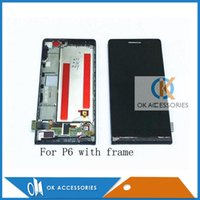 Wholesale Ascend P2 - High Quality For Huawei Ascend P2 P6 P6 with frame P7 LCD Display Panel + Touch Screen Digitizer Assembly