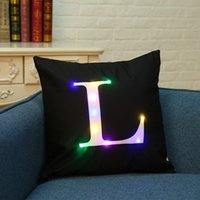 LED Laterne Buchstaben Kissenbezüge Kissenbezüge Beleuchtung Kissenbezug LED Kissenbezug Home Dekoration Throw Pillowcase Für Sofa