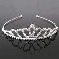 Wholesale Headdress Jewelry Wedding - Wholesale hot sell jewelry rhinestones Hair hoop crown Headdress