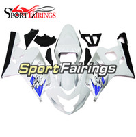 Wholesale Motorcycle Motor Kit - Fairings Fit Suzuki GSXR600 GSXR750 K4 04 05 Year 2004 2005 ABS Motorcycle Fairing Kit Bodywork Motor Cowling White Black