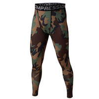 Wholesale Grey Camo Pants - Wholesale- Men Compression Base Layer Camo Pants Leggings Fitness Gym Running Sports Training Trousers V2