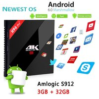 Wholesale 3g Media Player - High configuration Android TV Boxes H96 Pro Amlogic S912 Octa-Core 3G 32G 2.4G 5.8GHz Wifi Newest Smart Media Player H96Pro+