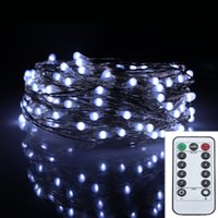Christmas outdoor christmas garland - FT M LED Modes Silver Wire Battery Operated Led String Light Chrismas Outdoor Fairy Lights Decoration Wedding Garland