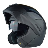 Wholesale Red Flip Up Helmet - New with inner sun visor flip up motorcycle helmet safety double lens winter racing motos helmet dot approved capacete