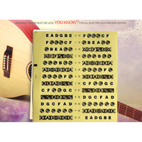 Wholesale Acoustic Electric Guitar Ukulele Violin Fretboard Music Note Scale Sticker
